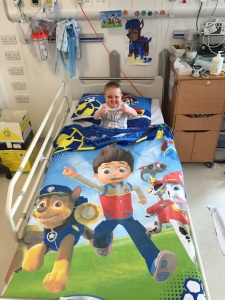 New bedding sent to him. He LOVES it!!!